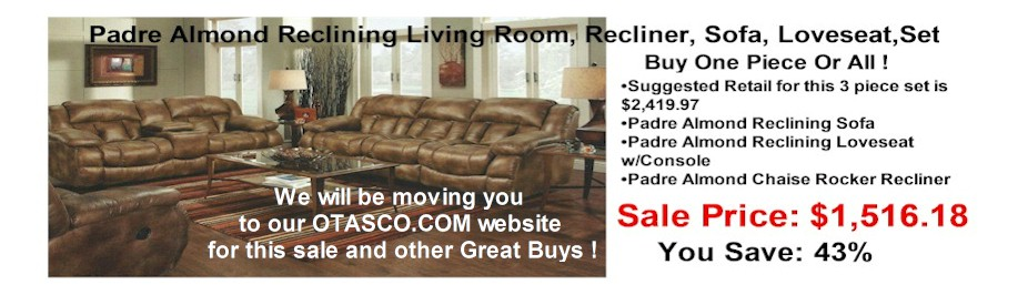 rsbslide2 - Padre Almond Reclining Sofa, Recliner, Loveseat Sale